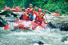 Rafting + Kintamani Volcano + Ubud + Waterfall + SPA + Dinner